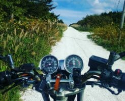 北海道ー白い貝殻の道